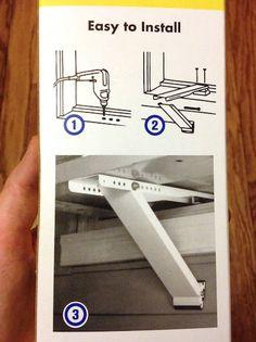 Air Conditioner Support Bracket Installation