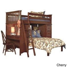 Classic Twin Loft/ Platform Bed Set with Built-in Chest/ Desk/ Bookshelf | Overstock.com Shopping - The Best Deals on Kids' Beds