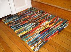 knit t-shirt rag rug