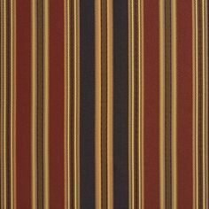 Dark Green and Red Stripe Damask and Silk Upholstery Fabric
