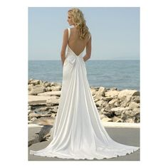 Sweetheart Sheath  Backless Satin Destination Wedding Dress With Straps