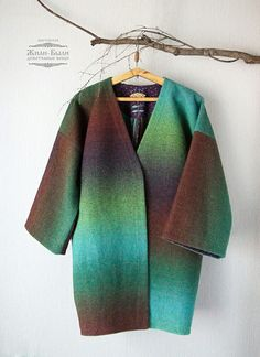 VK is the largest European social network with more than 100 million active users. Weaving Projects, Woven Fabric, Hand Weaving, Duster Coat, Blazer, Sweaters, Jackets, Clothes, Fashion
