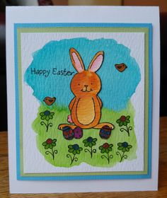 Easter Bunny Watercolour Card. The main products I used for this card was the Inky Antics Chocolate Rabbit Clear Stamp Set, the Crafty Impressions Spring Boarder Clear Stamp Set and some Tim Holtz Distress Ink Pads and Markers. All products are available at The Good Craft Shop www.thegoodcraftshop.co.uk. For instructions on how I made this card and a list of the products that I used visit our blog www.thegoodcraftshop.co.uk/blog/.