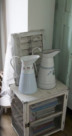 ..French enamelware.   Love it in my eclectic decor.