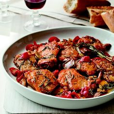 To make her Sunday-supper scarpariello—chicken sautéed in a tangy lemon glaze with bell pepper—Fran Parisi always uses a whole chicken cut into pieces, then cooks it on the stove for hours. Grace Parisi opts for faster-cooking boneless thighs and skips the bell pepper in favor of jarred Peppadews, sweet-spicy pickled peppers from South Africa, sold in many US supermarkets.Plus: F&W's Chicken Cooking Guide