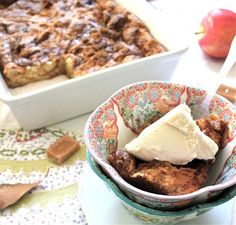 salted caramel croissant bread pudding
