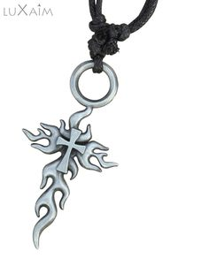 Black Metal Designer Holy Cross Pendant By Returnfavors