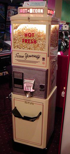 Antique Popcorn Machine, going in media room? ...Please save this pin. Because for vintage collectibles - Click on the following link!.. http://www.ebay.com/usr/prestige_online