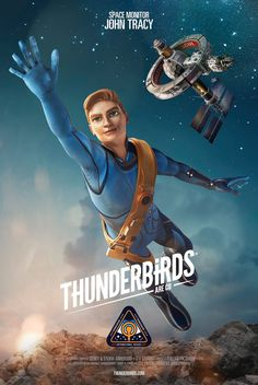 Thunderbirds Are Go, Season 2 – John Tracy (voiced by Thomas Brodie-Sangster) ITV Classic Cartoon Characters, Sci Fi Characters, Classic Cartoons, Thunderbirds Are Go, Sci Fi Tv, Sci Fy, Spaceship Art, Classic Sci Fi, Cinema