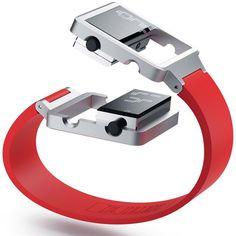 aluminum, battery, concept, design, display, elastic bands, idea, lock, segements, watch