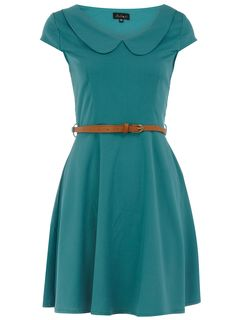 Green peter pan collar dress from dorothy perkins