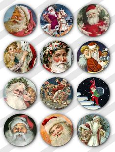 free vintage bottlecap images | Free Stuff: VINTAGE CHRISTMAS BOTTLE CAP DIGITAL IMAGE --1 - Listia ... Noel Christmas, Christmas Paper, Vintage Christmas Cards, Christmas Pictures, Vintage Cards, Vintage Postcards, Christmas Crafts, Christmas Ideas, Bottle Cap Projects