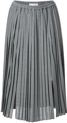 Michael Kors Pleated Midi-Skirt on shopstyle.com
