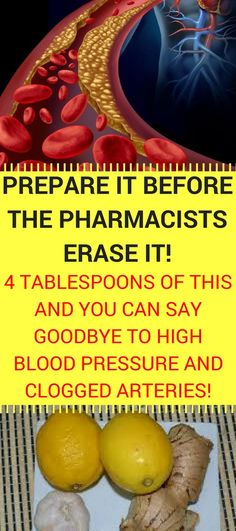 Prepare It Before The Pharmacists Erase It! 4 Tablespoons of This and You Can Say Goodbye To High Blood Pressure and Clogged Arteries!