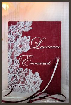 Guestbook wedding lace made in France. livre d'or fabrication française.  www.moments-enchantes.eu