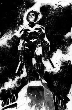 Nightwing-Striking Black & White Superhero Sketches by Matteo Scalera — GeekTyrant Comic Book Artists, Comic Book Characters, Comic Artist, Comic Character, Comic Books Art, Character Design, Superman, Batman Art, Gotham