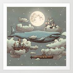 Society 6   Ocean Meets Sky  Art Print by Terry Fan - $18.00