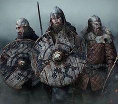 Great work ! If you know the artist comment below . . . . #vikings #viking #berserker #norseman #asatruar #pagan #heathen #warrior #bearded #asatru #oldways #odinism #valhalla #odin #thor #freya #tyr #sword #axe #axeman #shield #nordicstyle #norsemythology #vikingstyle #vikinglife #steelandblood #steelandblood