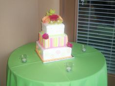 Neon swirls, stripes, and dots! by christiescakery, via Flickr