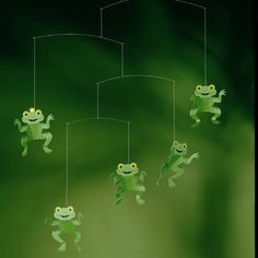 Flensted mobiles the happy frog mobile cm Mobile Art, Hanging Mobile, Frog Nursery, Girl Nursery, Nursery Ideas, Room Ideas, Baby Crib Mobile, Baby Mobiles, Nursery Modern
