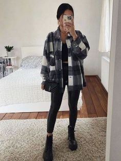 Flannel Outfits, Legging Outfits, Cute Casual Outfits, Winter Fashion Outfits, Fall Outfits, Autumn Fashion, Swag Fashion, Dope Fashion, Fashion Pants