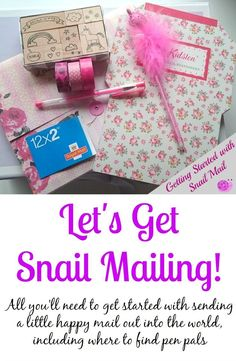 Getting started with snail mail - put pen to paper again!