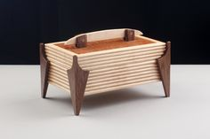 Birdseye Maple Box with Grooved Sides and Lacewood Lid