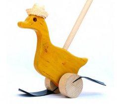 Arrastre Pato de madera caminador