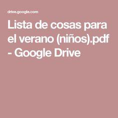 Lista de cosas para el verano (niños).pdf - Google Drive