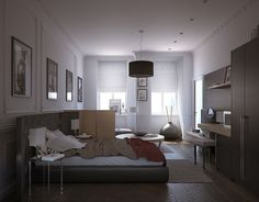 Beautiful project for an apartment building in Vienna 2009. We combined classic lines with modern furniture. #polymetro_3d #polymetro #3d #polymetro_3dvisualization