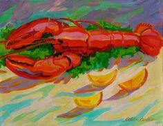Lobster and Lemons Lobster Art, Painting, Painting Art, Paintings