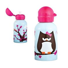 papar the owl water bottle by beatrix new york