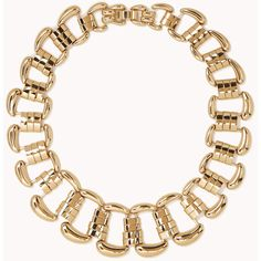 FOREVER 21 Large Gradated Chain-Link Necklace by None, via Polyvore