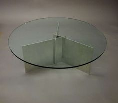 Paul Mayen; Aluminum and Glass Coffee Table for  Habitat, c1970.