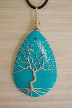 Tree of Life silver coated copper wire por RecycledBeautifully