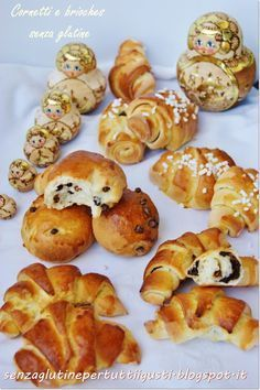 : Croissants, croissants, pains au chocolat and pangoccioli: all gluten-free! Sin Gluten, Patisserie Sans Gluten, Always Hungry, Lactose Free, Antipasto, Bread Baking, Gluten Free Recipes, Food And Drink, Cooking Recipes