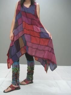 MANE patchwork dress (128.1). $45.00, via Etsy.