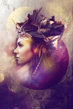 Beautiful abstract artwork from Marina Stroch. http://www.advancedphotoshop.co.uk/image/54706/modern_mohawk