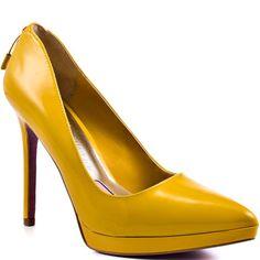 Paris Hilton Tamora Yellow Patent