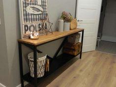Drewniana stalowa Konsola, komoda, ławka, stal, indystrial,loft,stolik Zebrzydowice - image 1