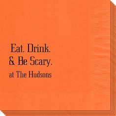Eat Drink and be Scary Napkins