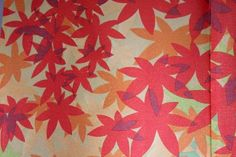 Noren Japanese Doorway Curtain Autumn Leaves Momiji Gold Lame 85x150cm: Amazon.co.uk: Kitchen & Home