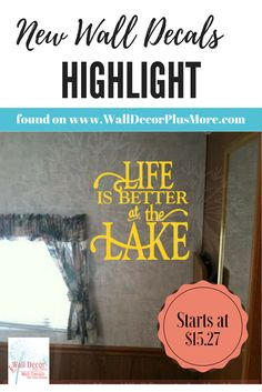 Lake life is the best life! Apply this vinyl decal sticker in your lake house or camper!