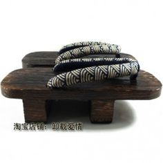 Two Teeth Geta Traditional Japanese Clogs For Men - Waves