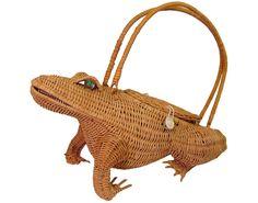 Wicker Frog Handbag
