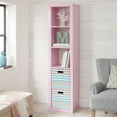 5 Cube Organizer Bookcase Storage Shelf Unit Shelves Wall Pink Wooden Room New Cube Storage Unit, Storage Shelves, Storage Cubes, Wooden Toddler Bed, Bookcase Organization, Cube Organizer, Pink Bedding, Better Homes And Gardens, Cubbies