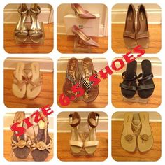 """Selling this """"AN ECLECTIC SELECTION OF Size 6.5 shoes!!!"""" in my Poshmark closet! My username is: class4half. #shopmycloset #poshmark #fashion #shopping #style #forsale #MANY #Shoes"""