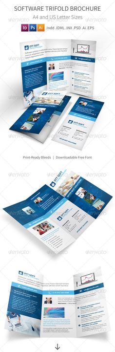 It And Trifold Brochure Informational Brochures Template Design Print Templates