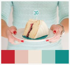 teal and red color inspiration