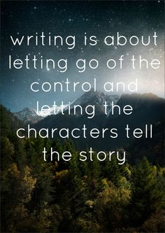 I think in empirical writing it is about releasing control and letting the evidence tell the story.